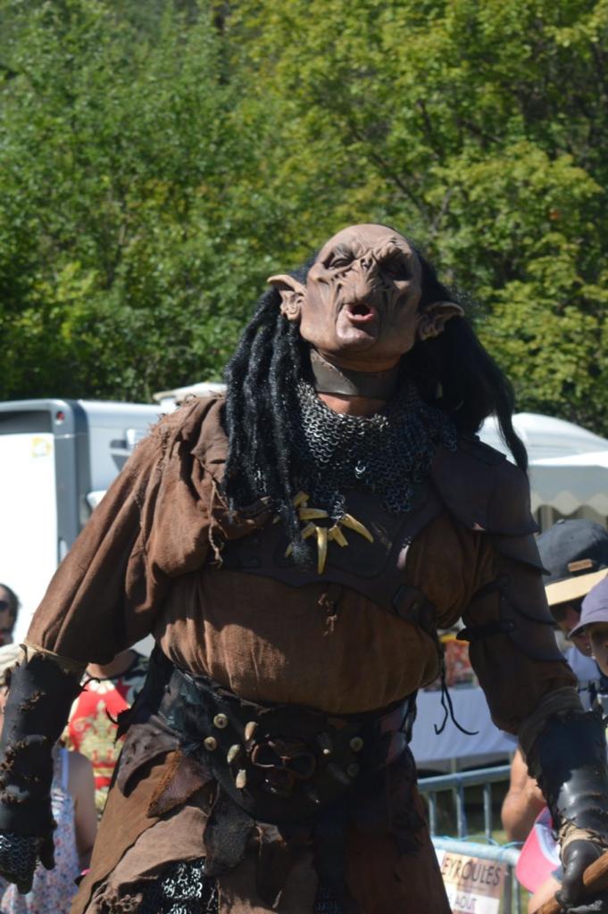 Créature étrange sur le terrain à côté de la salle des fêtes de Peyroules
