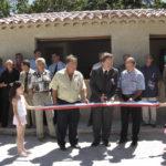 L'inauguration de la nouvelle buvette lors de la fête de la Ste Anne le 31 juillet 2005 lors de la fête de la Ste Anne organisé par le comité des fêtes de Peyroules