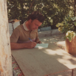 Roger Funel, le président du comité des fêtes de Peyroules en 1982