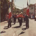 Portes drapeaux au quartier du château dans les années 80
