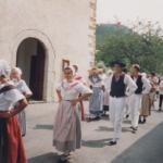 Un défilé provençale lors de la Ste Anne 1994