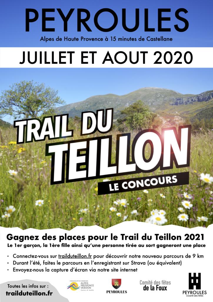 Trail du Teillon 2020 concours