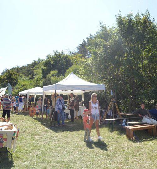 Le camp médiéval à la fête du terroir