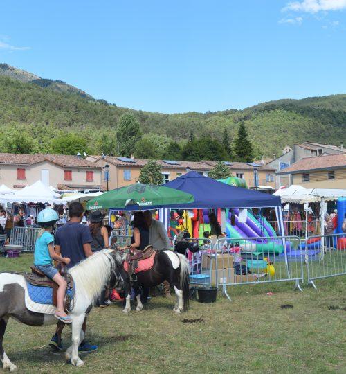 Balade en poneys sur la fête du terroir et de la nature à Peyroules